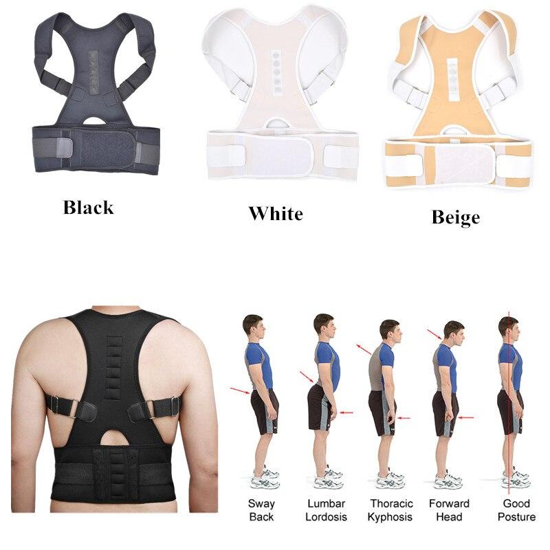 2018 envío de la gota de la venta caliente del vientre sudor cinturón postura Brace hombro espalda postura Corrector hombres hombro postura