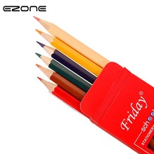 EZONE 6PCS Colored Crayon Pencil Creative Art Set Colour Pencil Kid Drawing Tools Gift For Children School Office Supply New uni colored pencil crayon art drawing crayons school stationery office art supplies oil crayons rip by hand crayon 7600
