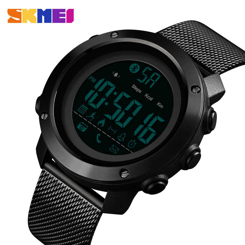 SKMEI Sport Smart Watch Men Calories Pedometer Bluetooth Watches Milanese Strap Waterproof Smart Digital Watch reloj hombre 1462