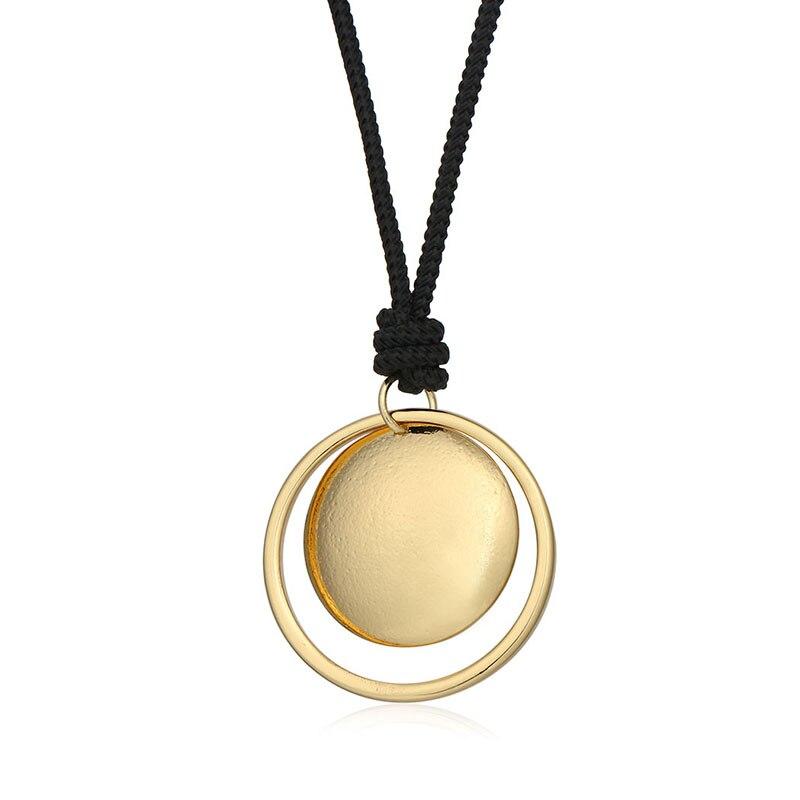2017 Joyería de Moda Sencillo Collar De La Aleación de Plata de Oro Doble de Obl
