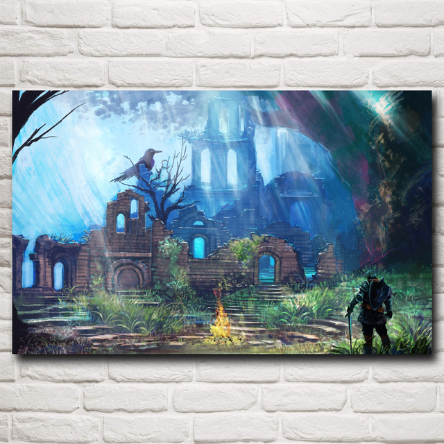 Dark Souls Artwork Video Games City Art Silk Poster Print Home Wall Decor Painting 12×19 15×24 19×30 22×35 Inches Free Shipping