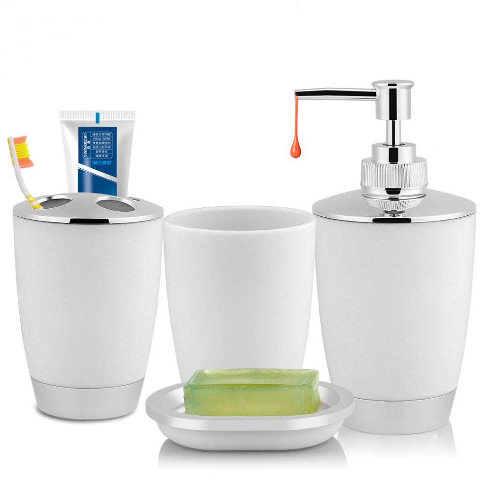 4pcs set bathroom accessories set includes cup toothbrush for Bathroom accessories organizer