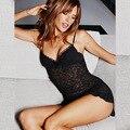 Hot 2016 Sexy Roupa Interior das Mulheres Sexy Hot Tiras de Aço Preenchimento Bud Cinto Condoer Seda Camisola Pijama Tentação Lingerie Sexy