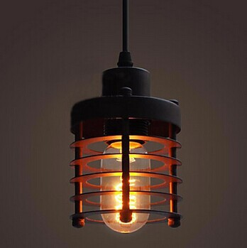 1 Light Industrial Painting Process Edison Bulb Loft Vintage Pendant Light,For diningroom bar home living lamp,E27 Bulb Included industrial and process furnaces