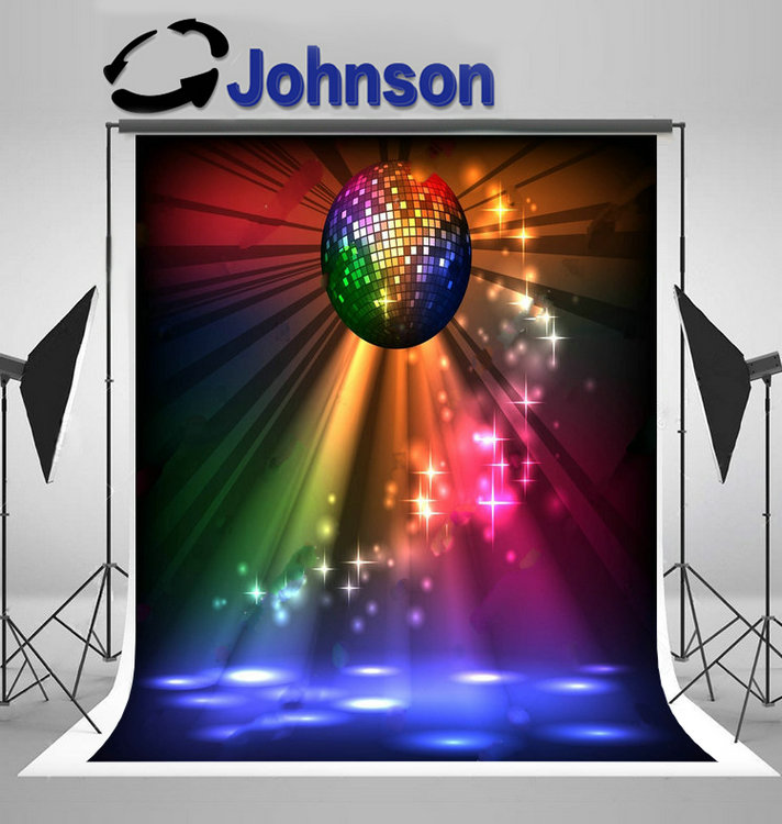 disco party Sparkly Ball Night backdrop Vinyl cloth High quality Computer print wall photo studio background