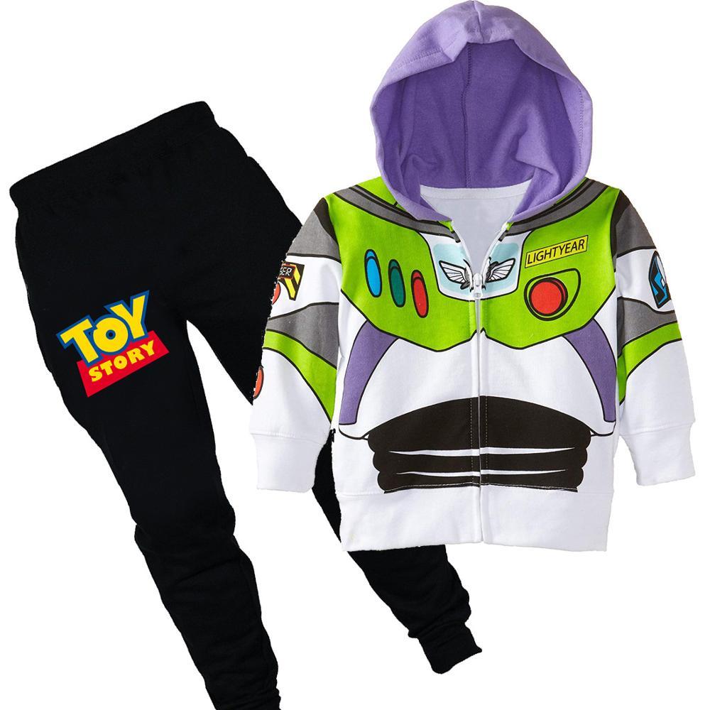 2PCS Kids Boys Girls Hoodies Tops+Pants Outfits Hooded Sweatshirt Trousers Set