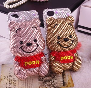 3D cute cartoon couple mobile phone case for iphone 4/4s