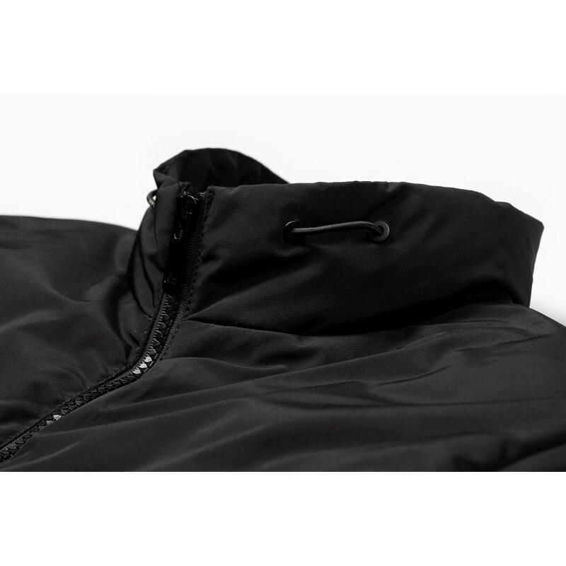 Enjeolon marka zagęścić zimowe ocieplane kurtki mężczyźni lekka odzież Parka białe kaczki płaszcz puchowy jakości dół Parka Plus rozmiar 3XL MF0109 w Kurtki puchowe od Odzież męska na  Grupa 3
