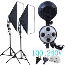 Yuguang fotografía Difusor 100-240 v de Cuatro Portalámparas Con 50*70 cm de Luz de Iluminación Continua y luz de Posición 2 unids