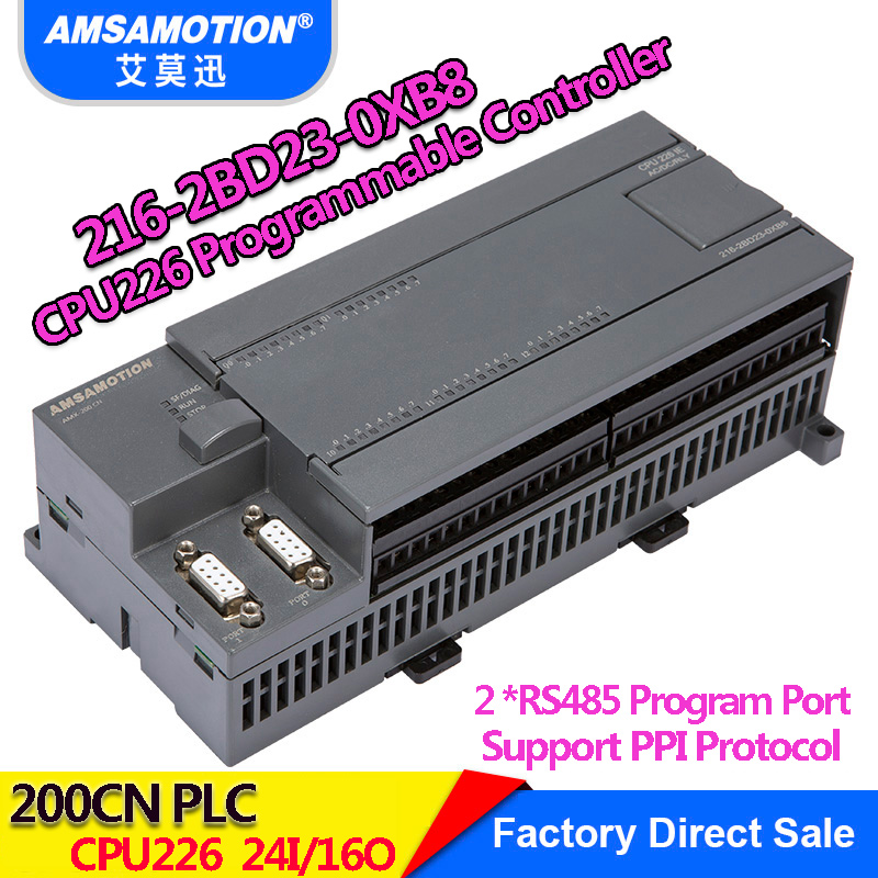 Amsamotion CPU226 6ES7 216 2BD23 0XB8 Relay PLC 24I 16O 6ES7 216 2AD23 0XB8 Transistor PLC