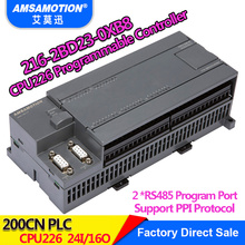 Amsamotion CPU226 6ES7 216-2BD23-0XB8 Relay PLC 24I/16O 6ES7 216-2AD23-0XB8 Transistor PLC plc ac dc rly 24 di 16 do relay main unit cpu226 ar compatible with 6es7 216 2bd23 0xb0 with program cable new
