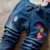 Estilo coreano ropa de Los Niños Fijó 2017 Otoño Muchachas Del Resorte de la Ropa de la Historieta Del Gatito Ropa de Los Cabritos 2 unids Camiseta Trajes T2767