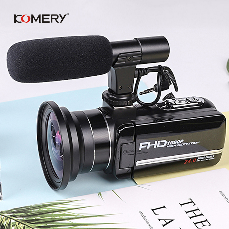 Original KOMERY Video Camera 3.0 Inch Touch Screen 2400w Pixel 8X Digital Zoom Support WiFi Factory Outlet Three-year Warranty
