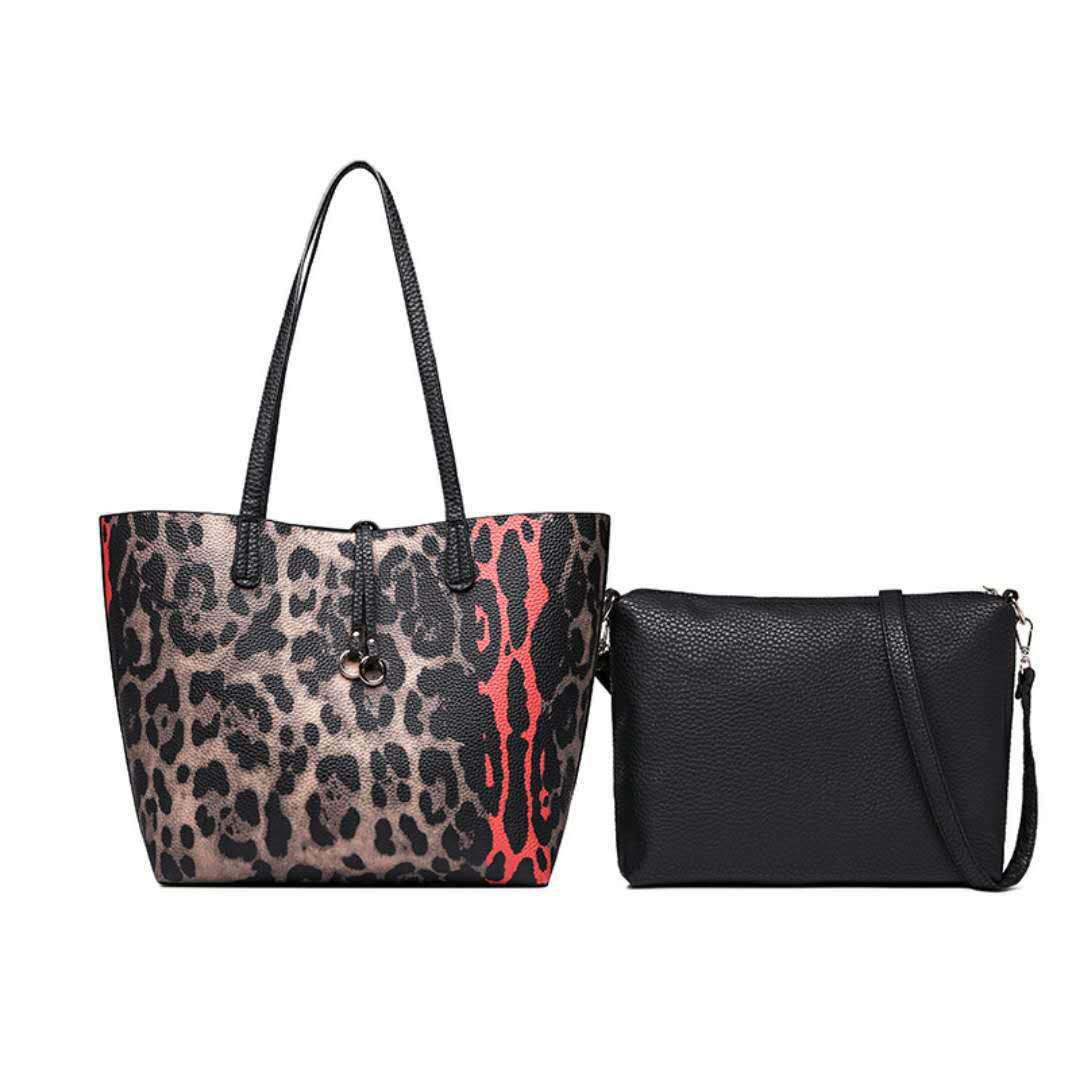 efcb7d80eea8 102018 newhotstacy Лидер продаж элегантные женские сумки женские модная  леопардная Печать большая сумка