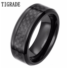 Mens Black Wood Grain Ceramic Ring High Quality Simple Style Wedding Band Free Shipping
