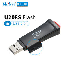 Unidad Flash USB 2,0 con protección de escritura Netac U208S negro 8GB 16GB 32 GB plástico USB2.0 disco Flash cifrado 16 32 GB Pendrive Stick(China)