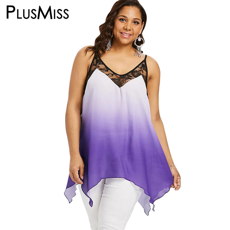 Size for plus camisole tops women lace for women