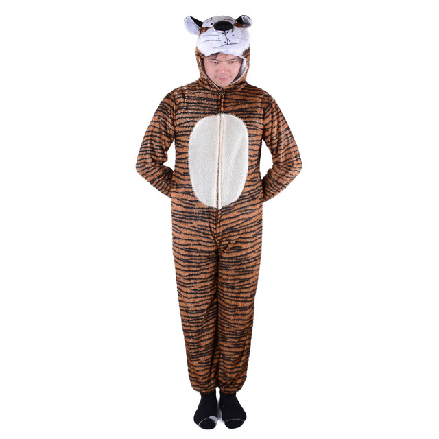 Naughty Tiger Costume Adult Tiger Stripes Animal Onesie Fleece Jumpsuit Fancy Dress Animal Costume Halloween Carnival  sc 1 st  AliExpress.com : tiger costume adult  - Germanpascual.Com