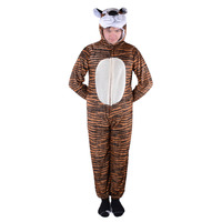 Naughty Tiger Costume Adult Tiger Stripes Animal Onesie Fleece Jumpsuit Fancy Dress Animal Costume Halloween Carnival