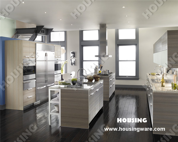 China Supplier Furniture Modern Laminated Mdf Kitchen Cabinet In