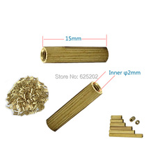 Double-pass Copper Cylinder 15mm Length M2*15 for CCTV Camera Assembly Using