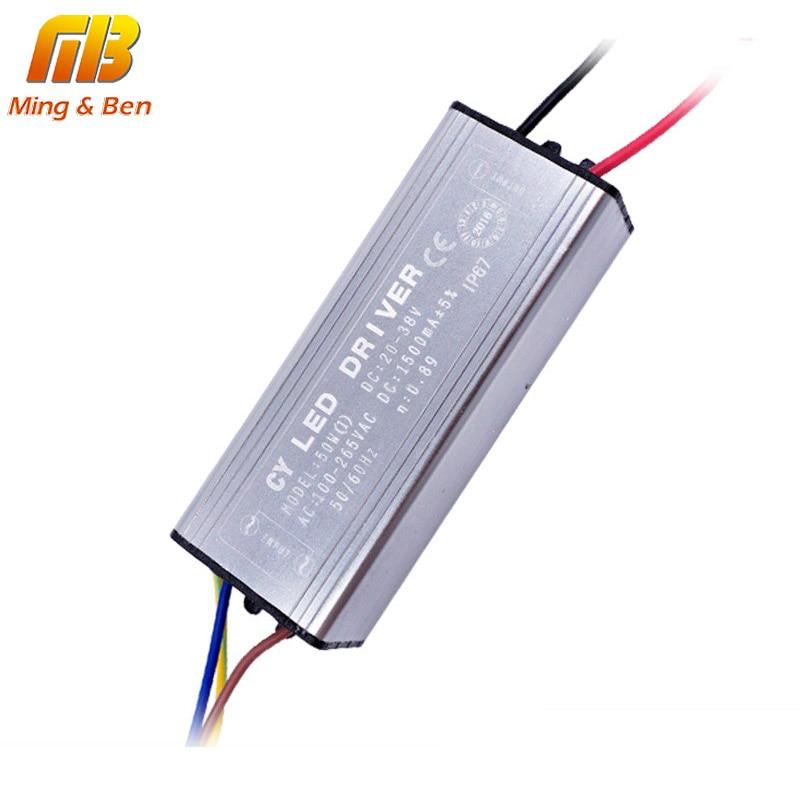 درایور LED 10W 20W 30W 50W 70W تبدیل AC85-265V به DC22-38V بدون درایور LED سوسو زدن DIY برای نورافکن چراغ قوه IP67 ضد آب