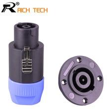 20PCS/10Sets SpeakON 8Pin Powercon Plug Speaker Cable Connectors 8 Pole Plug + 8PIN Female Jack Panel Mount Socket Adapter