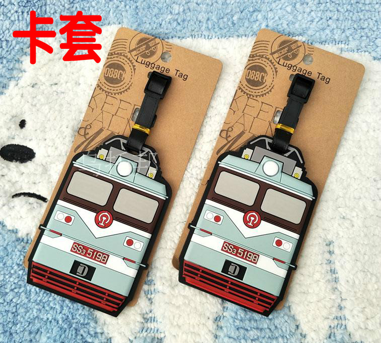 Train Anime Travel Accessories Luggage Tag Suitcase ID Address Portable Tags Holder Baggage Label Gifts New