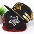 Cool!Unisex High Quality Spring New Fashion Hip-hop Hat Flat Brimmed Hat Pentagram Embroidery Men Women Outdoor Baseball Hats