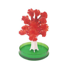 iWish 2019 12x10cm DIY Visual Red Magic Growing Paper Maple Crystals Tree Magical Grow Christmas Trees Kids Toys For Children