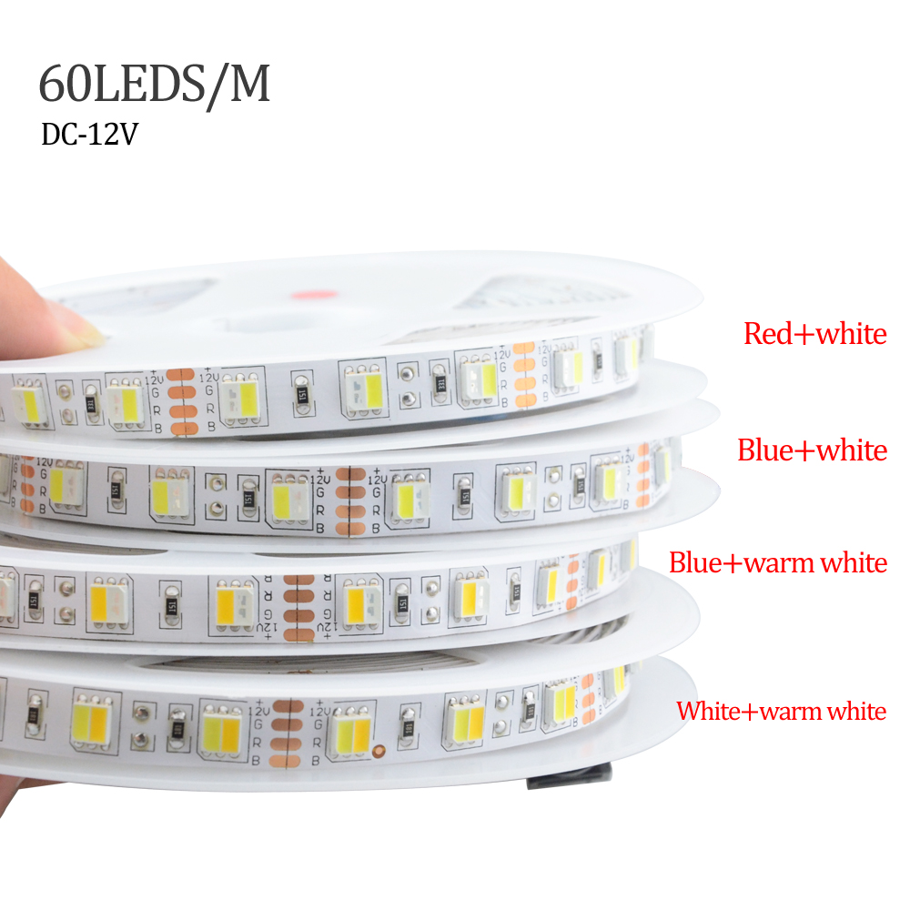Foxanon DC 12V LED lighting Strip tape Double Color temperature ...