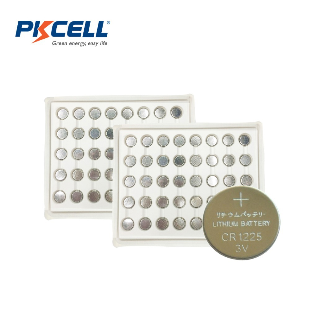 80 X PKCELL CR1225 3V Lithium Battery BR1225 EBR1225 CR 1225 3v battery