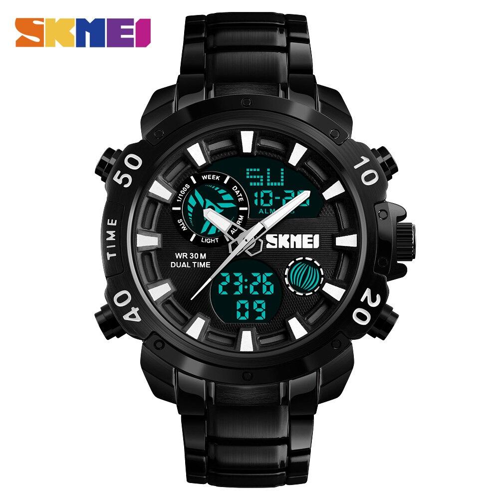 Skmei Mann Sportuhr Männer Quarz Digitaluhr Uhren Chrono Wasserdichte 12/24 Stunde 2 Zeit Mode Outdoor Armbanduhr Top 1306 Uhren Quarz-uhren