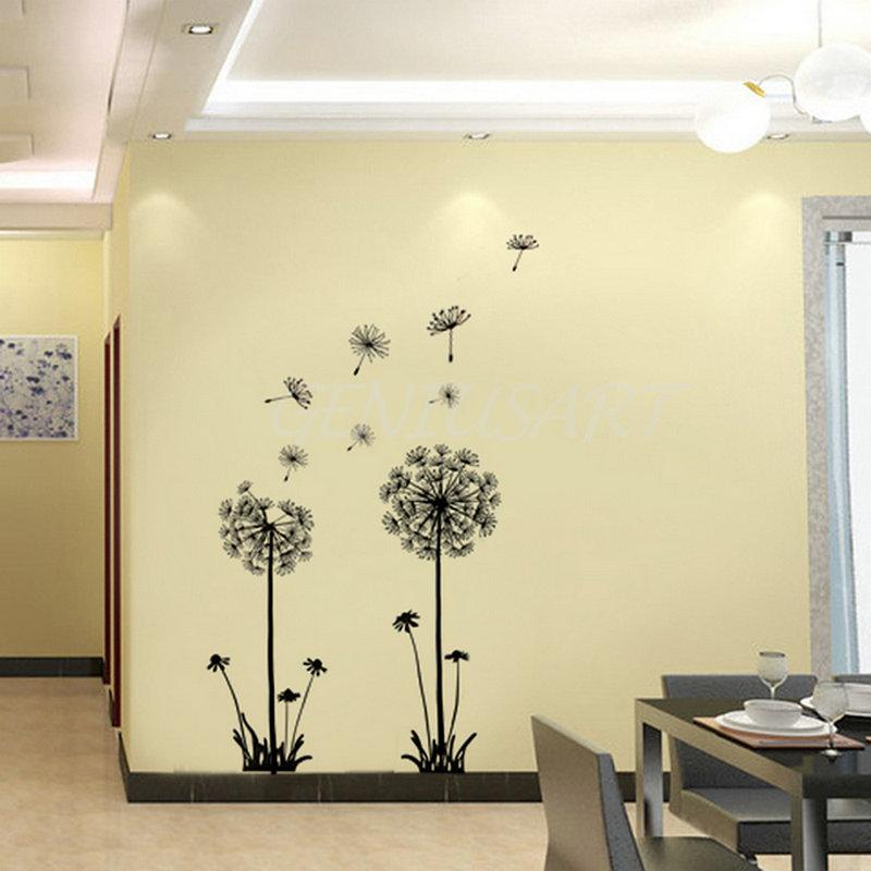 Dandelion Vinyl Wall Art Stickers Room Decals Transfers Home Decor