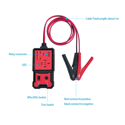 NEW Automotive Electronic Relay Tester Alligator Clip Car Tester Diagnostic Tool for 12V Car Islamabad
