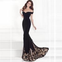 Spring Summer dress Women Black Russian Style Printed Dinner party Dresses Off Shoulder Elegant Floor Length Sexy Dress vestidos
