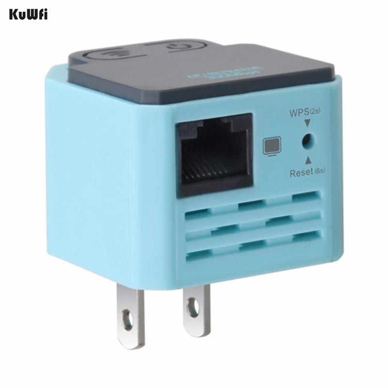 KuWFi 300Mbps repetidor WiFi inalámbrico 2,4 Ghz AP Router 802.11N amplificador de señal Wi-fi amplificador de rango extensor con EE. UU. EU macho