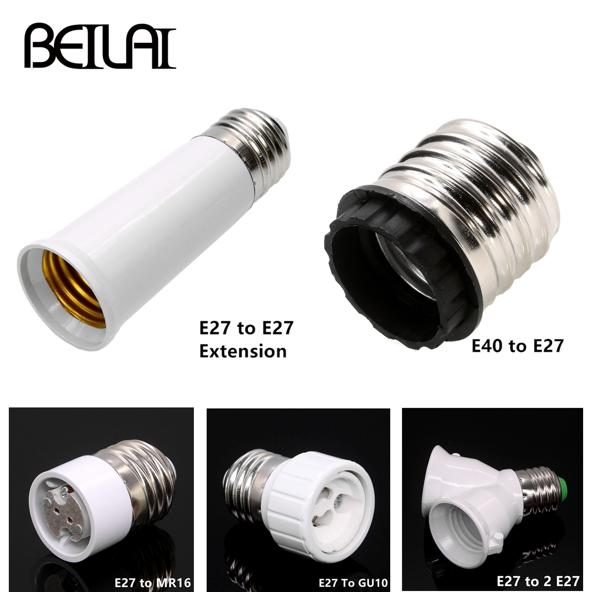 1x Converter E27 E14 MR16 GU10 G9 LED Bulbs Adapter Conversion Socket High Quality Material Fireproof Socket Adapter Lamp Holder