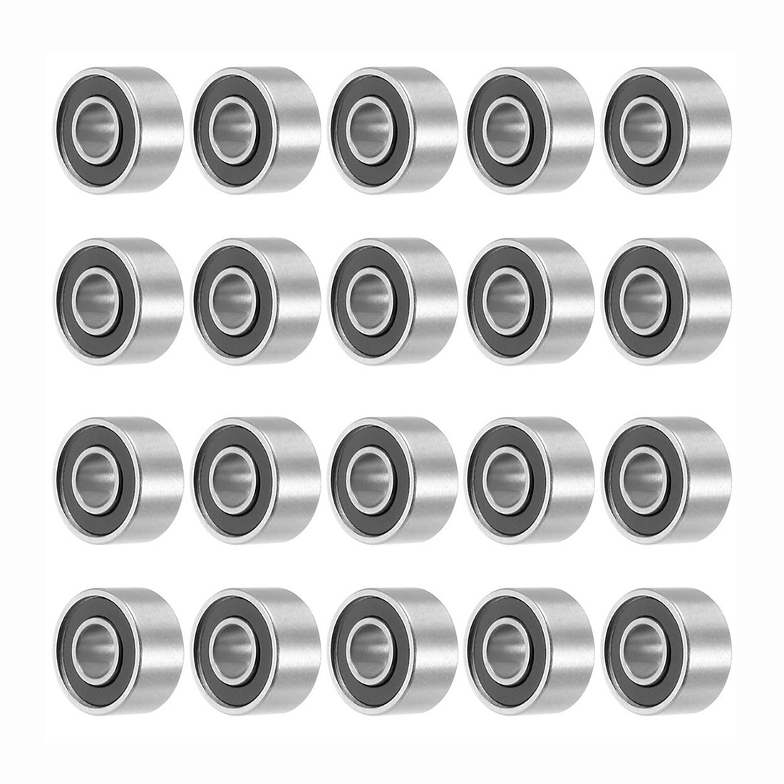 693RS 3mmx8mmx4mm Double Sealed Miniature Deep Groove Ball Bearing 20pcs