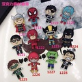 New Arrival Avengers Cartoon Acrylic Brooch Jewelry Batman Spiderman Soft Sister Badge Jewelry Accessories
