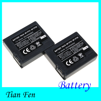 High Quality 2PCS NP FF50 NP FF50 NPFF50 Rechargeable Battery Li ion Battery For SONY DCR