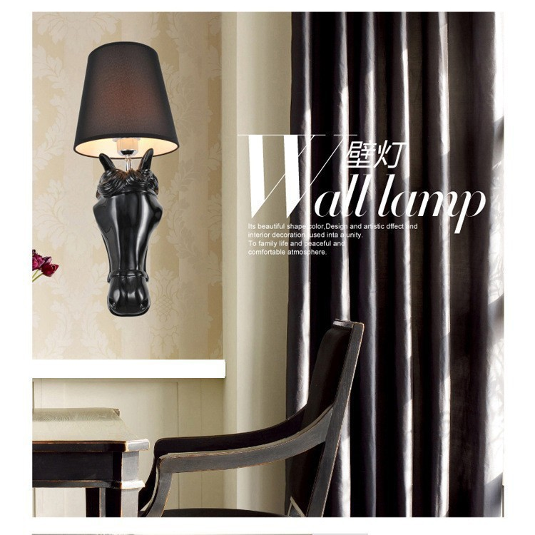 Young horse Design bedside wall lamps bathroom bedside lamp LED light living room wall sconce deco lampe
