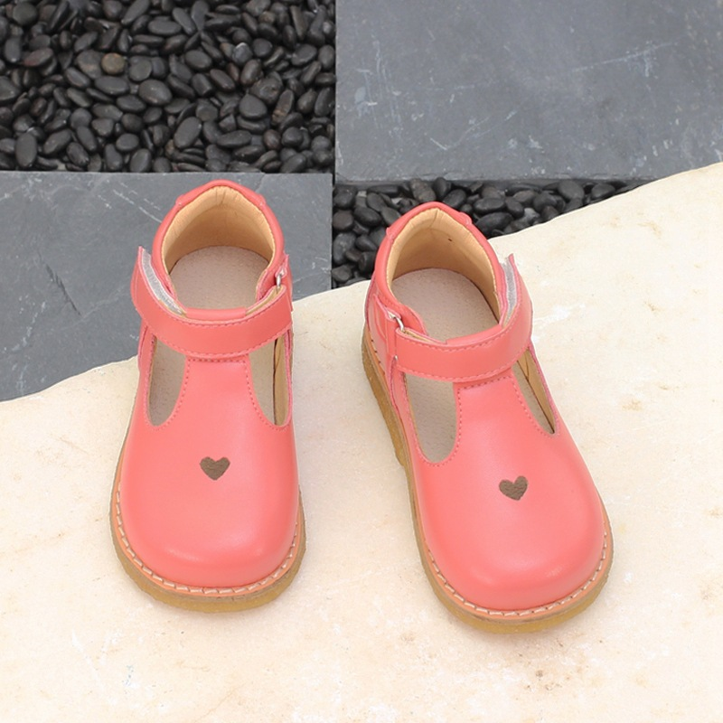 Girls casual shoes 2018 new spring and autumn black dance shoes breathable leather princess shoes shoes