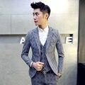 Men's suit jacket plus size S~4XL Slim fashion Check suit jacket Elastic thick boutique business casual dress party clothes TZ05