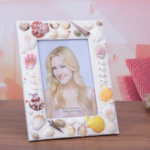 7 inch Natrual Seashell Photo Frame for Home Decoration YSPF-006