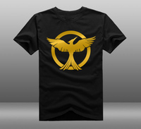 [XHTWCY] New 2019 Hunger Games Fire Printed T shirt Women's man Short sleeve Custom T shirt 100%Cotton Good Quality 12 Color