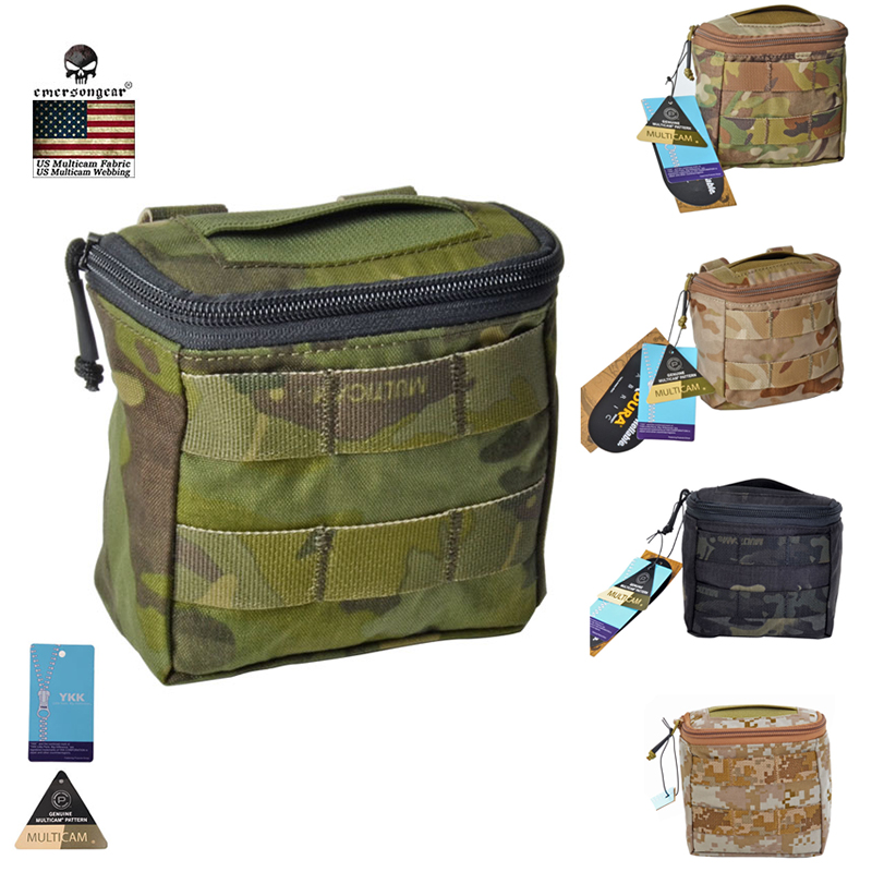 Emersongear Molle Pouch 500D Camo EDC Battle Field Medic EMT Pouch Concealed Glove Tactical Army Pouch 10 Colors EM9336 emersongear edc tactical admin pouch molle multi purpose survival pouch military army combat bag em8506
