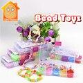 Minitudou muchacha de los niños colorido hama beads perler juguetes de moda para chica diy 3d rompecabezas el desarrollo de la inteligencia de juego para los niños