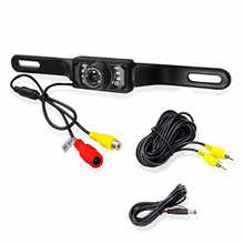 CMOS Car Rear View Backup Parking Camera 7 LED Reverse Auto Number License Plate Frame Cam