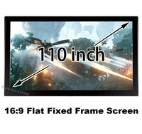 Large Cinema Screen 110 Inch Flat Fixed Frame DIY 1080P Projector Screens 16 To 9 Ratio
